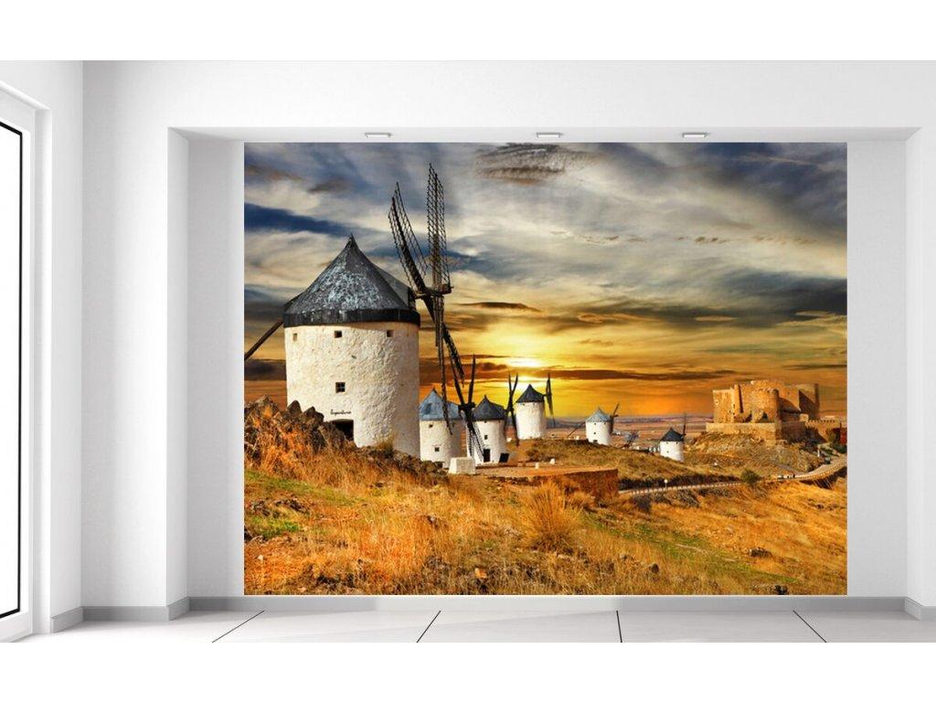 Fototapeta Větrné mlýny ve Španělsku  + Dárek