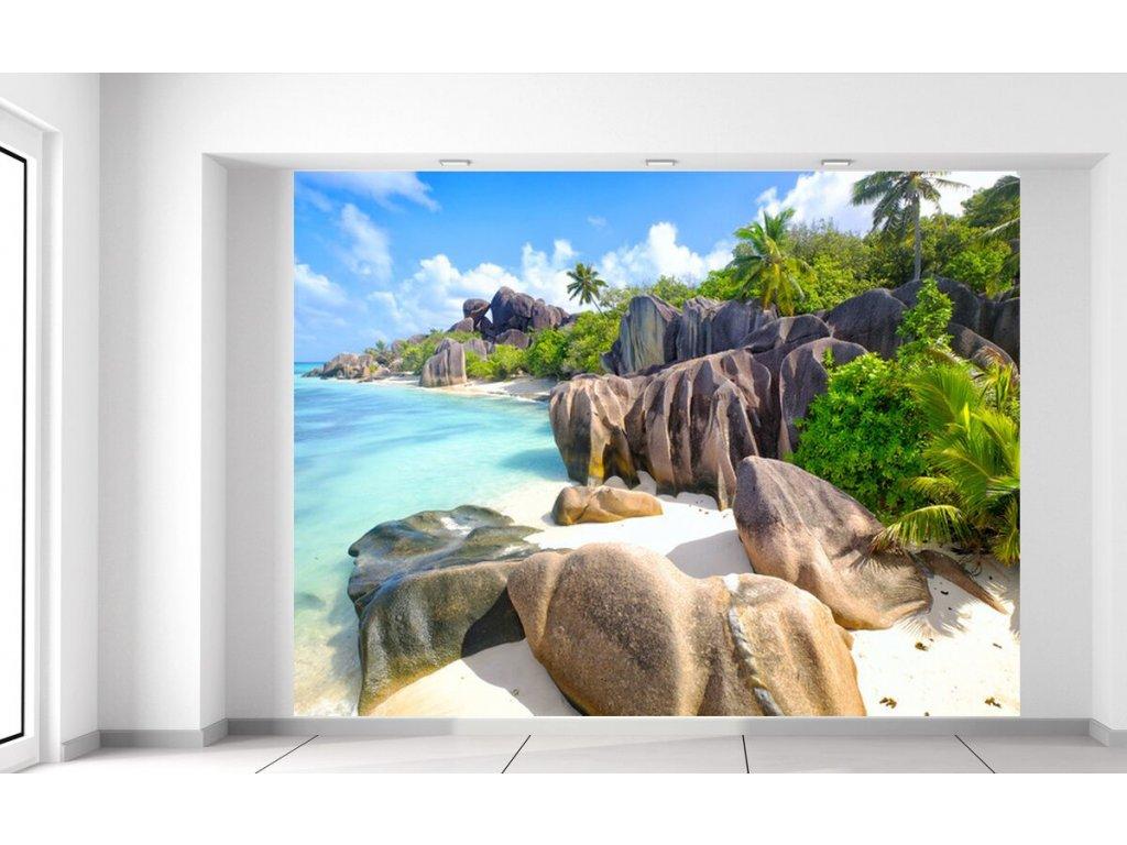 Fototapeta Tropický ostrov La Digue  + Dárek