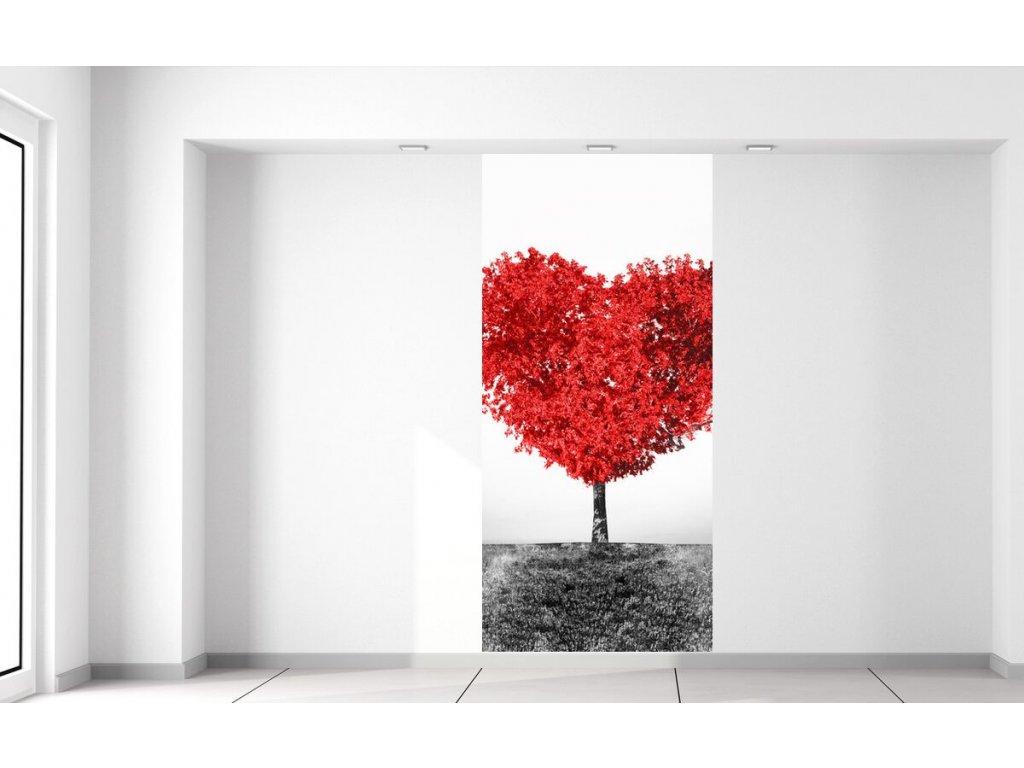 Fototapeta Strom lásky do červena  + Dárek