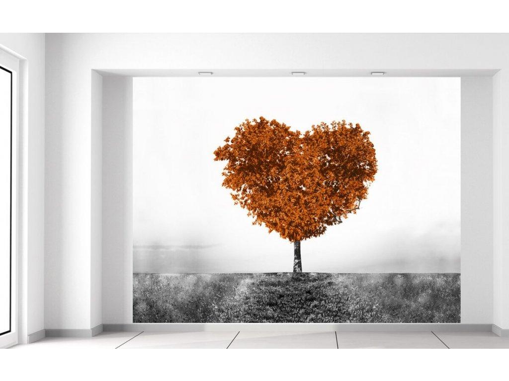Fototapeta Hnědý strom lásky  + Dárek