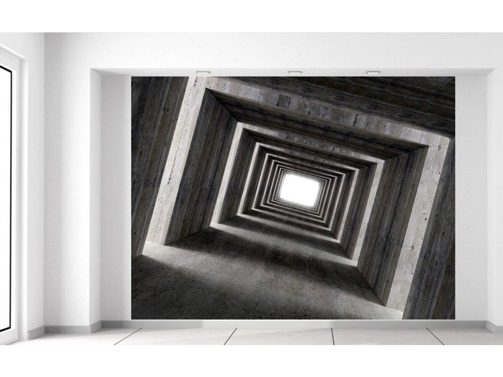 Fototapeta Tunel se světlem na konci  + Dárek