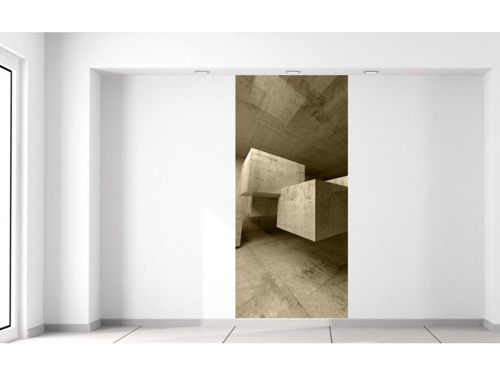 Fototapeta Betonové kostky v prostoru  + Dárek