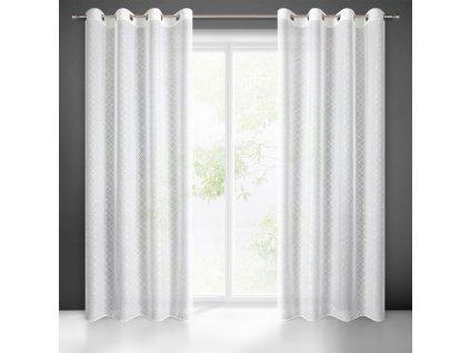 Hotová záclona SKYE 140 x 250 cm - Na kroužcích  + Dárek