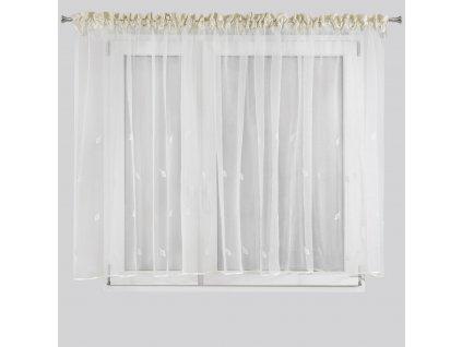 Hotová záclona ELEONORA 400 x 145 cm - Na pásce  + Dárek