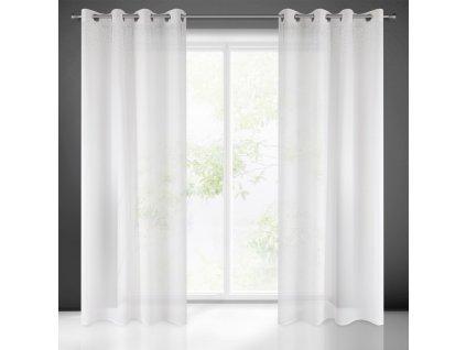 Hotová záclona MADLEN 140 x 250 cm - Na kroužcích