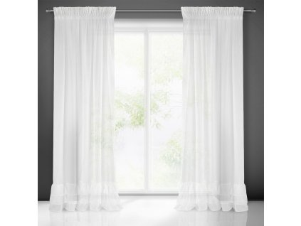 Hotová záclona RAJA 140 x 270 cm - Na pásce  + Dárek