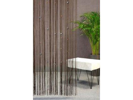 Hotová záclona SPAGETTI Korálka 140 x 250 cm