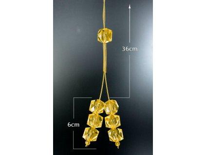 Dekorační šňůra na závěs a záclonu 9 42 cm / 6 cm