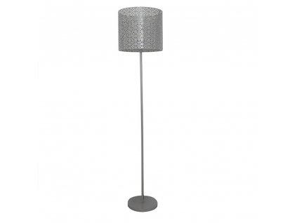 Stojací lampa, šedá, JADE TYP 9  + Dárek