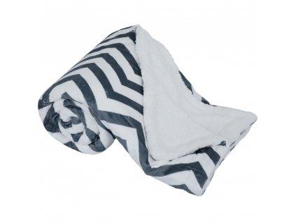 Oboustranná beránková deka, geometrický vzor, 150x200, FUTURO  + Dárek