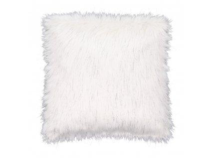 Polštář, bílá / stříbrná, 45x45, FOXA TYP 1
