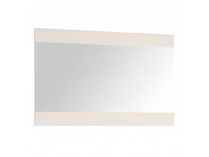 Zrcadlo malé, bílá extra vysoký lesk HG, LYNATET TYP 122  + Dárek