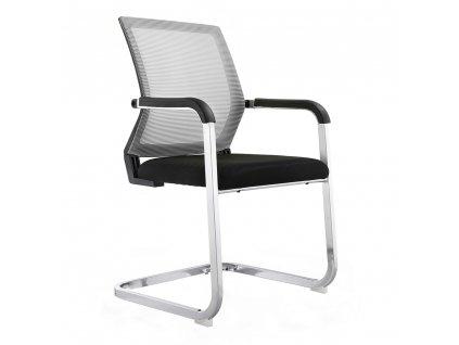 Zasedací stolička, šedá / černá, RIMALA