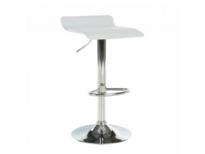 Barová židle, ekokůže/chrom, LARIA NEW