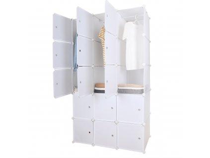 Modulární multifunkční skříň, bílá, ZALVO