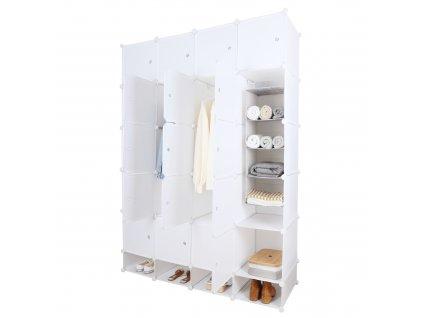 Modulární multifunkční skříň, bílá, ZAFOD