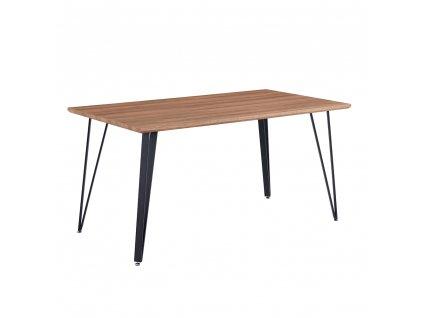 Jídelní stůl, 150 cm, dub / černá, FRIADO
