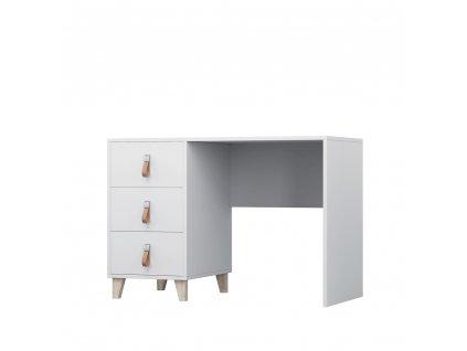 PC stůl, bílá, ABS hrany, FIERA