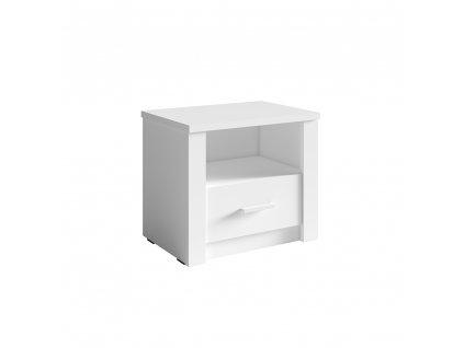 Noční stolek, 2ks, bílá, RAMIAK