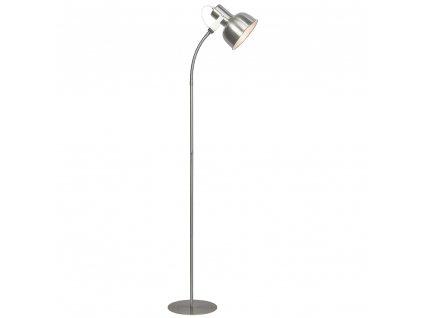 Stojací lampa v retro stylu, kov, matný nikl, AVIER TYP 2