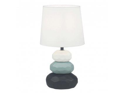 Stolní lampa, bílá / modrá / černá, LENUS