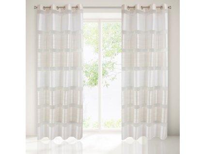 Hotová záclona ALICE 140 x 250 cm - Na kroužcích