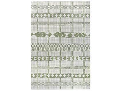 Kusový koberec Flatweave 104853 Green/Cream
