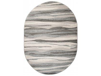 Kusový koberec K186A MIDDLE GRAY SARI OV B1X  + Dárek