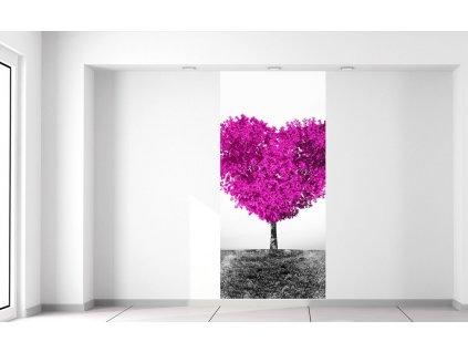 Fototapeta Fialový strom lásky  Extra gramáž a tloušťka (180-212g/m2 a 100um)