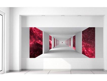 Fototapeta Chodba a červený vesmír  + Dárek