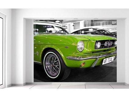Fototapeta Lime veterán Mustang  Extra gramáž a tloušťka (180-212g/m2 a 100um)