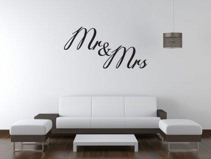 Nálepka na zeď Mr i Mrs  Tištěná v HD
