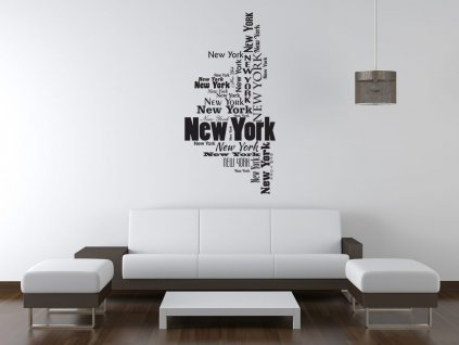 Nálepka na zeď New York  Tištěná v HD