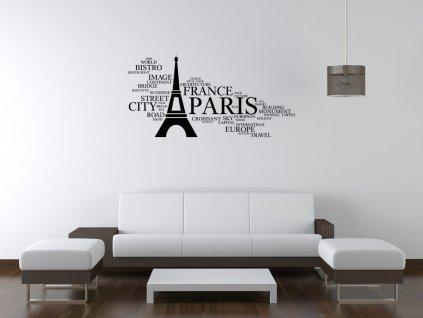 Nálepka na zeď Paris  Tištěná v HD