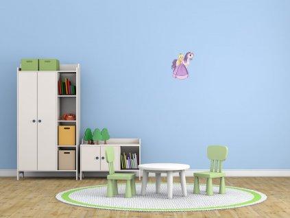 Nálepka na zeď pro děti Princezna s koníkem  + Dárek
