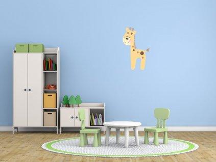 Nálepka na zeď pro děti Veselá žirafa  Tištěná v HD