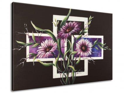 Ručně malovaný obraz Astry 120x80cm  100% ručně malovaný