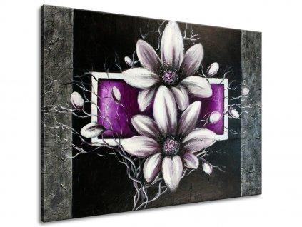 Ručně malovaný obraz Krásné stříbro  + Dárek