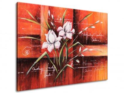 Ručně malovaný obraz Rozkvetlý tulipán  100% ručně malovaný