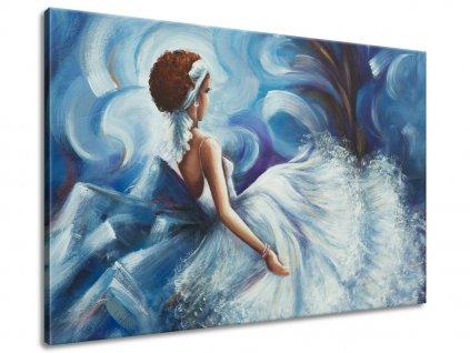 Ručně malovaný obraz Krásná žena během tance 70x100cm  100% ručně malovaný
