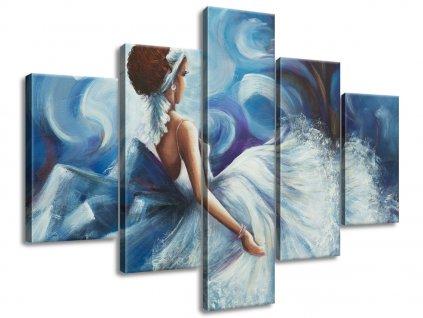 Ručně malovaný obraz Krásná žena během tance 100x70cm  100% ručně malovaný