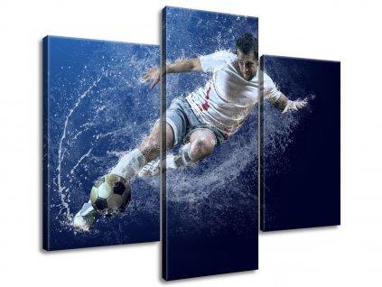 Obraz na plátně Síla fotbalu  Tištěný v HD