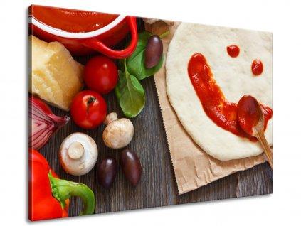 Obraz na plátně Domácí pizza  + Dárek
