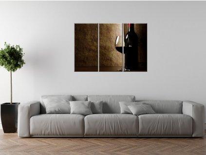 Obraz na plátně Červené víno  + Dárek