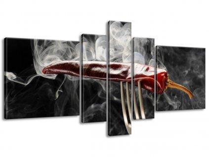 Obraz na plátně Horká chilli paprička 160x80cm  Tištěný v HD