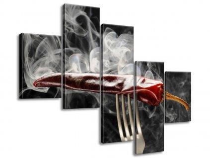Obraz na plátně Horká chilli paprička 100x75cm  Tištěný v HD