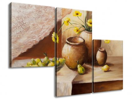 Obraz na plátně Žluté květy ve váze 90x60cm  Tištěný v HD