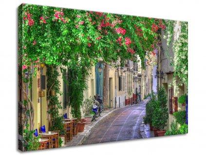 Obraz na plátně Řecka ulička  Tištěný v HD