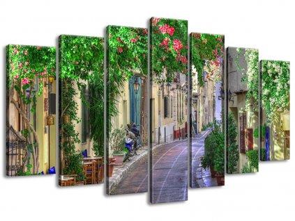 Obraz na plátně Řecka ulička 140x80cm  Tištěný v HD