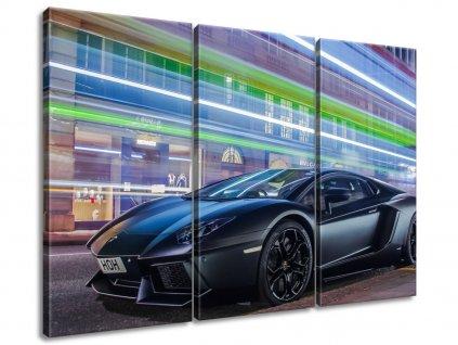 Obraz na plátně Matná černá Lamborghini Aventador - Ben  Tištěný v HD